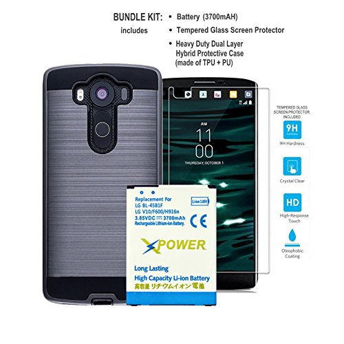 ZGEARZ LG V10 Battery 3700mAh Li-Ion Phone Replacement Battery for LG V10 BL-45B1F [H960A,AT&T H900,T-Mobile H901,Verizon VS990,Sprint LS992] with Protective TPU+PC Case & Tempered Glass - 24 Shop Just Coupons
