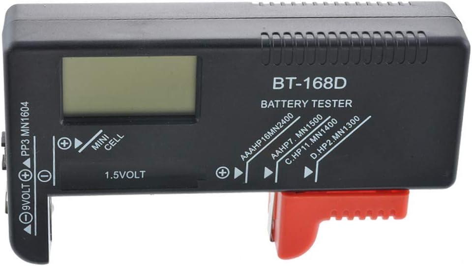 BT-168 LitthingTester per Batterie AA AAA C D 9 V 1.5 V Batteria Volt Checker Ricaricabili Batterie a Bottone Universale