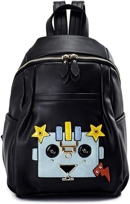 Girls//Boy//Children HWX New Backpack Fashion Shoulder Bag Rucksack PU Leather Travel Bag Satchel School Bag Color : Black, Size : 22cm14cm33cm