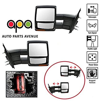 replacement for apa ford f150 f-150 07-14 textured power heated signal  towing