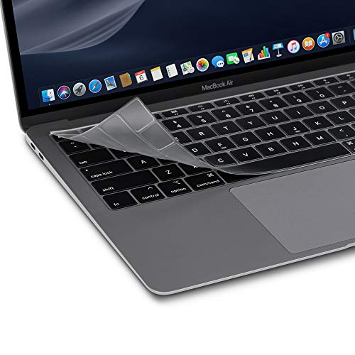 Moshi ClearGuard Air 13 Keyboard Protector for MacBook Air 13 (Thunderbolt 3/USB-C, US Lay Out), Thin, Washable, Protect Spills, Fits US Keyboard Layout only