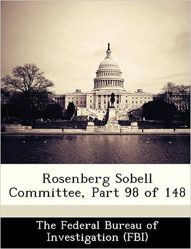 Rosenberg Sobell Committee, Part 98 of 148