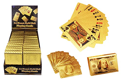 DollarItemDirect Gold Foil Playing Cards, Case of 96
