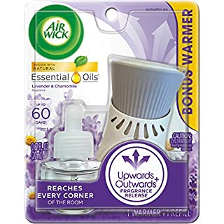 Air Wick plug in Scented Oil, Starter Kit, Lavender and Chamomile 1ct, Essential Oils, Air Freshener, Purple