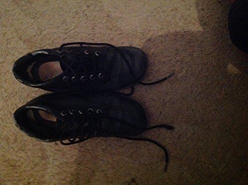 Kickers Kick Hi Leather Kids Shoe, UK 6 Black
