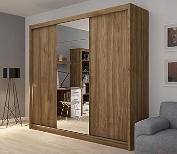 FADO Extra großer 235 cm verspiegelter Kleiderschrank 3 Türen ...