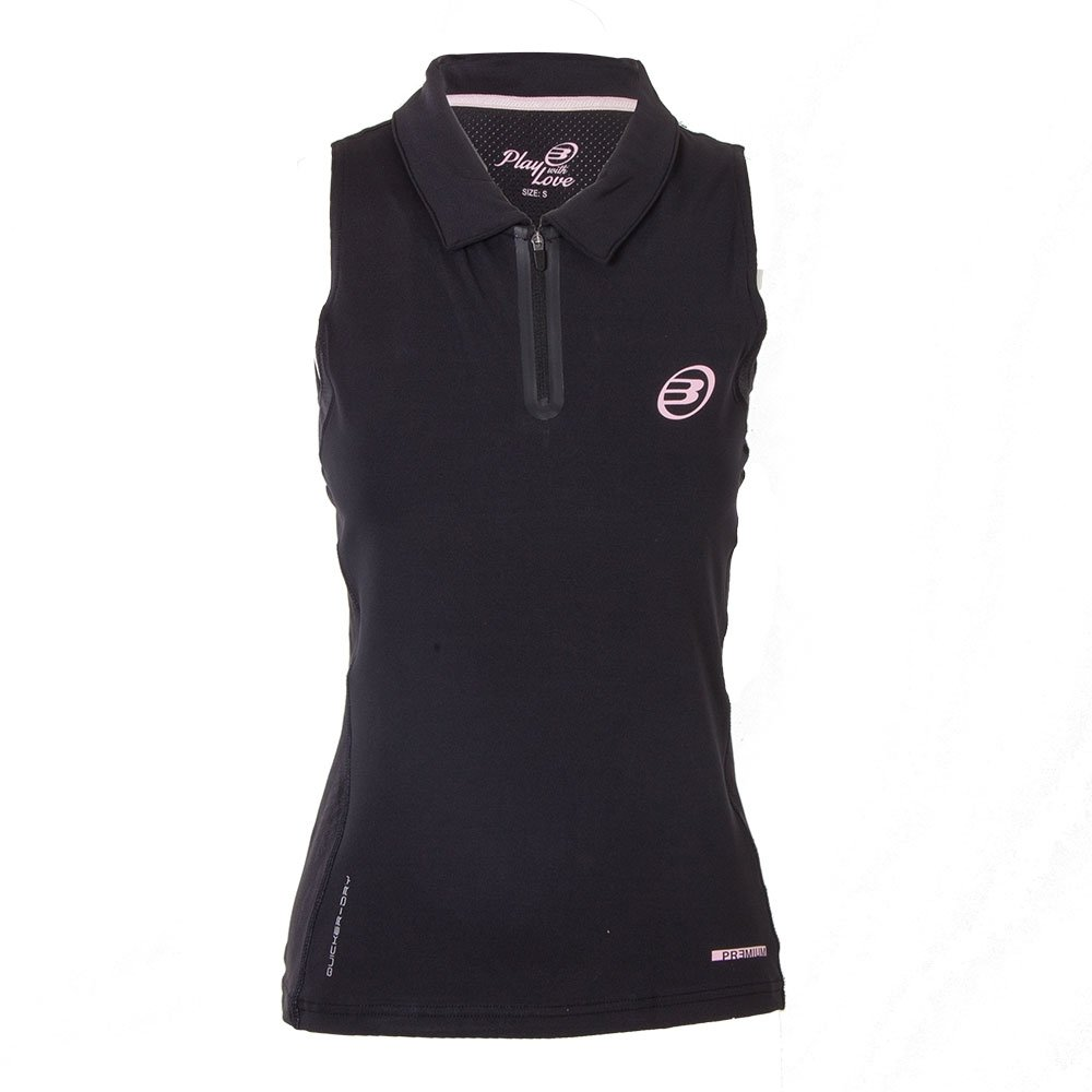 Bull padel Polo BULLPADEL AYOLUE Mujer Negro: Amazon.es ...