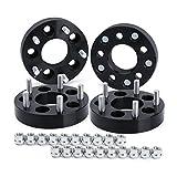 """5x4.5 to 5x5 Wheel Adapters for J-e-ep Jk Wk Wj Xk Wheels on Tj Yj Kk Xj Mj Kj Zj (4pcs), Dynofit 5x114.3mm to 5x127mm 1.25"""" Forged Conversion Wheel Spacers 1/2"""" Thread, Bolts Pattern Changed Adapter"""