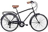 Gama Bikes 26 Men's City Negra 6 Speed Shimano Hybrid Urban Commuter Road...