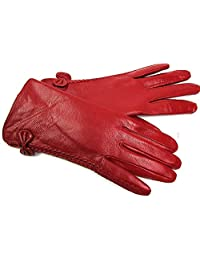 The Leather Emporium Women's Gloves Fur Lined Winter Warm