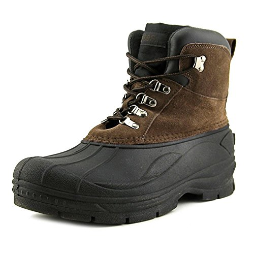 totes Mens Tommy Brown Snow Boot Lace up Ankle Leather Totally Cold Weather Lightweight Footwear Size - 10