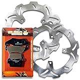 Sumo - Kawasaki Front + Rear Brake Rotors + Brake Pads Combo for KX250 F/N (04-14) KX450 F/D (06-14) KLX450 R/A (08-12)