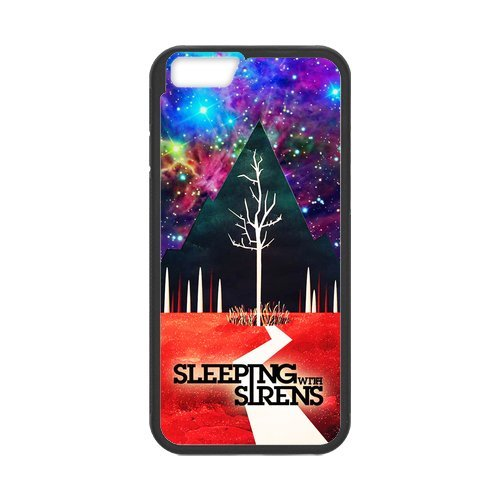 Fayruz- Personalized Protective Hard Textured Rubber Coated Cell Phone Case Cover Compatible with iPhone 6 & iPhone 6S - Sleeping with Sirens F-i5G1113
