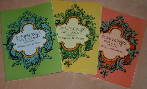 Ludwig van Beethoven Symphonies No. 1-9 in Full Score (3 Volumes)