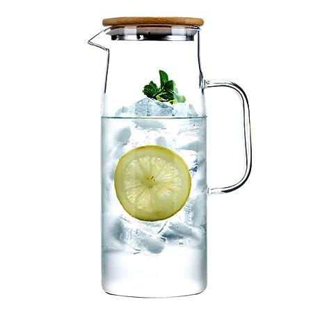 Botella De Agua Fría Vidrio Transparente Hervidor De Vidrio ...
