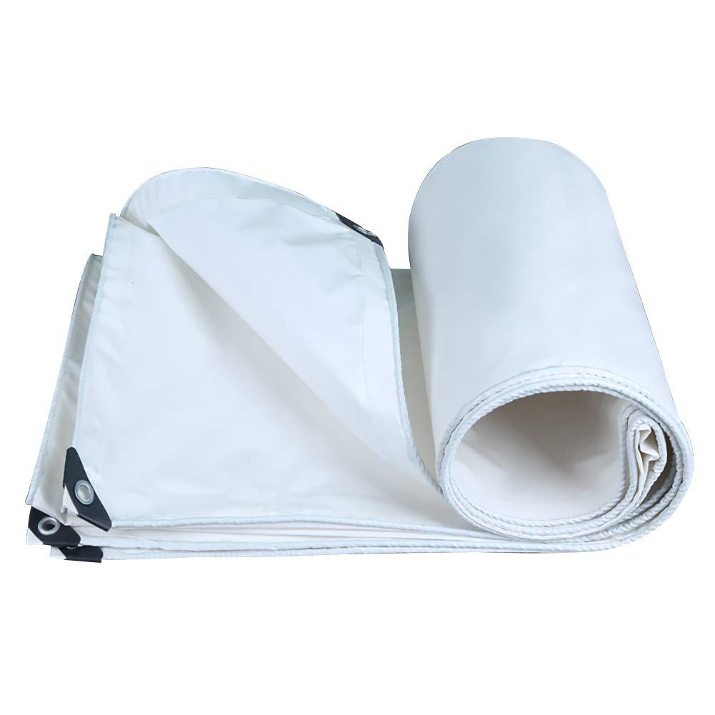 タープ 防水タパリン0.35ミリメートルの厚さ - 350グラム/平方メートルのターポリンで作られたプレミアム品質のカバー (色 : 白, サイズ さいず : 5MX7M) 5MX7M 白 B07JKQJDWN