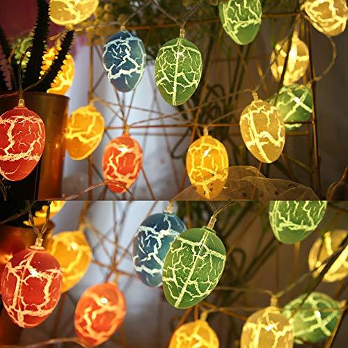 LED Pascua Huevo,10 Pascua Huevo Cadena luz Fiesta Linterna, Decoración para el hogar Lámparas USB, Hogar Jardín Fiesta Adornos Decoraciones (Multicolor)