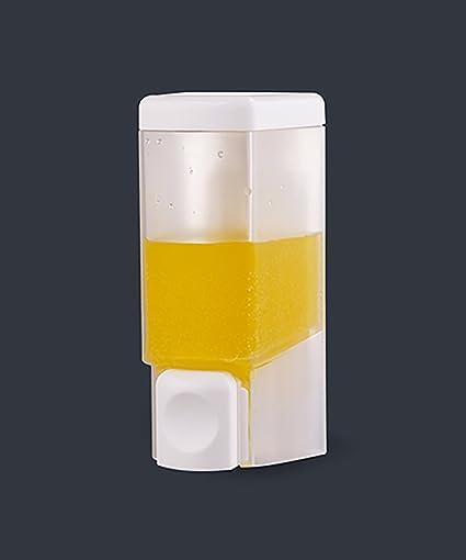 KKCFZAOYE Dispensador de jabón Plástico Champú de pared Gel de ducha Dispensador de jabón Prensa-