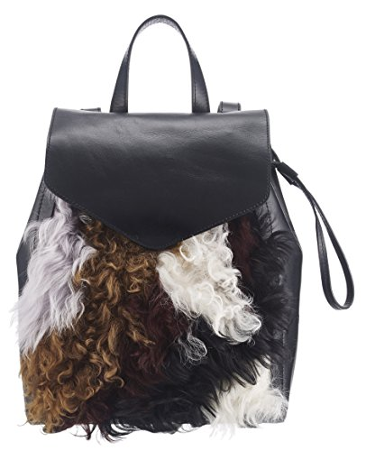 Loeffler Randall Women's Small Drawstring Back pack, Black/Multi by Loeffler Randall