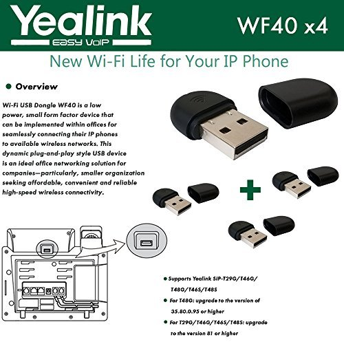 Yealink WF40 4-Pack USB Dongle Wi-Fi plug and play 150 Mbps by Yealink (Image #1)