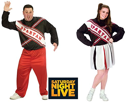 Spartan Costumes Female (Adult Plus Spartan Cheerleader Costume (SNL Saturday Night Live) - Male and Female)