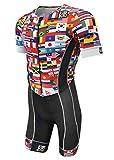 De Soto Forza Sleeved Triathlon Flisuit - 2019 - FFTS (Size Small, Flag)