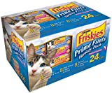 Friskies Prime Filets Seafood Selections Variety Pack, Seafood, 5.5-Ounce Cans (Pack of 24), My Pet Supplies
