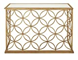 Cheap Deco 79 67062 Metal Glass Console Table, 47″ x 32″, Gold