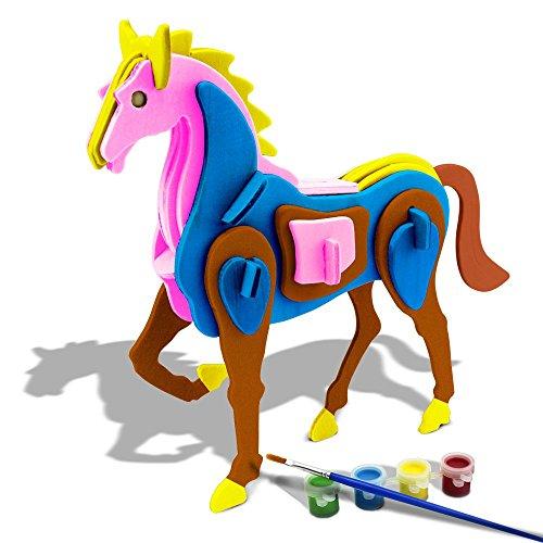 bfun-3d-horse-puzzle-woodcraft-assemble-and-diy-paint-kit