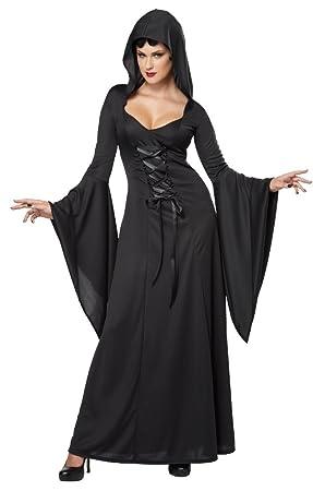 Disfraz bruja negra mujer Halloween M: Amazon.es: Juguetes y juegos