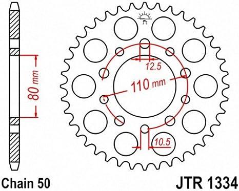 40T  JTR1420.40 JT Sprockets 530 Steel Rear Sprocket