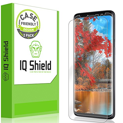 Galaxy S9 Screen Protector [2-Pack], IQ Shield LiQuidSkin Bubble-Free [Case-Friendly] Screen Protector for Galaxy S9 HD Clear Film from IQShield