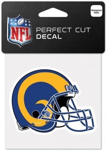 Wincraft Nfl Los Angeles Rams Retro Aufkleber Perfekt Geschnitten Mehrfarbig 10 2 X 10 2 Cm Küche Haushalt