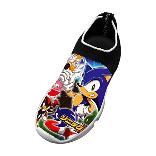 SHIBICHENGA Cool-Sonic Fashion Children's Slip-on Fly Knit Lightweight Breathable Printing Sneakers Sports Shoes