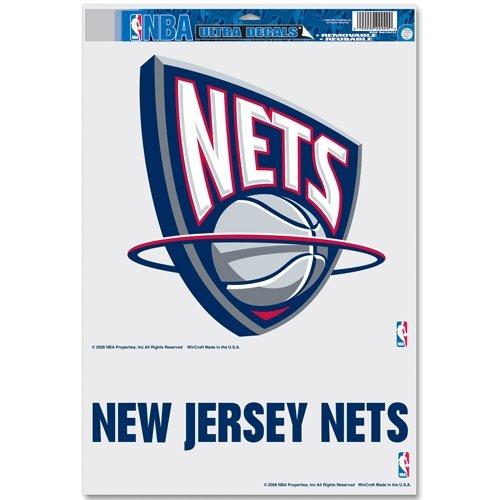 "NBA Brooklyn Nets 61104012 Multi Use Decal, 11 x 17"", Black"