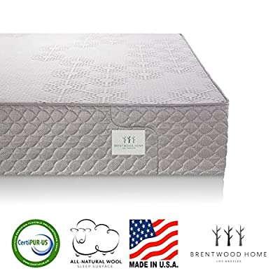 Brentwood Home S-Bed Bed, Organic Latex and Gel Memory Foam Mattress, CertiPUR-US and GOLS Certified, Natural Wool Layer, Made in USA, 25-Year warranty