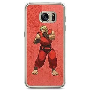Loud Universe Ken action Figure Samsung S7 Case Street Fighter Ken Samsung S7 Cover with Transparent Edges