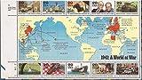WWII, 1941: A World at War (World War II), Block of 10 x 29-Cent Postage Stamps, USA 1991, Scott 2559
