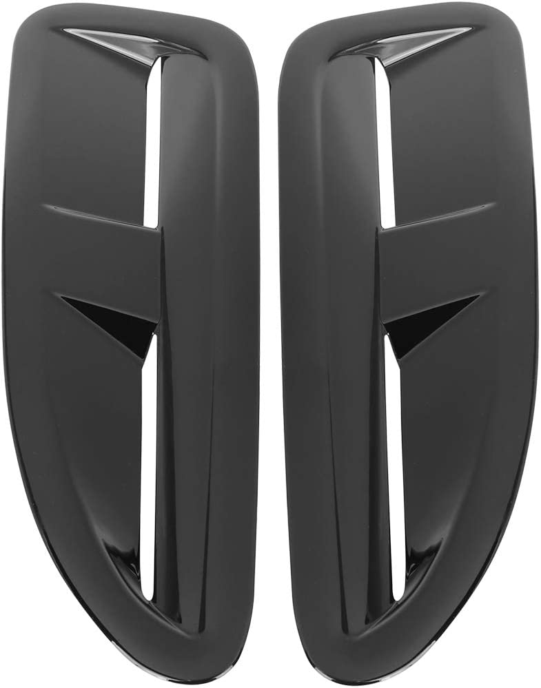 X AUTOHAUX Pair Car Vent Scoop Decorative Intake Hood Bonnet Vent for Jaguar XKR XK8