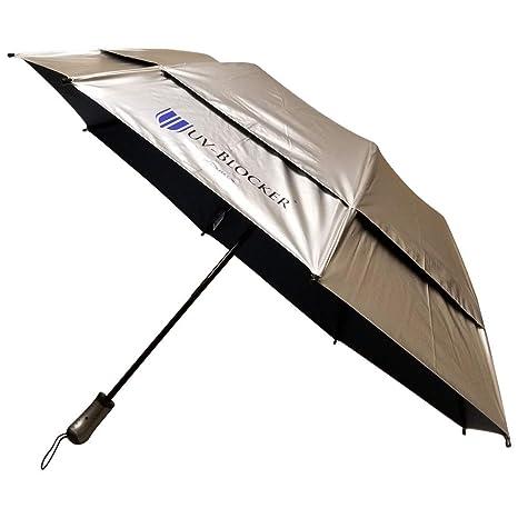 cf470451575a5 Amazon.com: UV-Blocker UV Protection Travel Cooling Sun Blocking Umbrella:  Sports & Outdoors