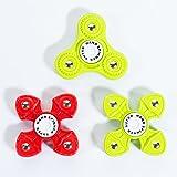 Hand Spinner Fidget New Popular Relieve Stress Plastic finger Spinner for Kids 2017 (3 PCS Green/Red/Green)