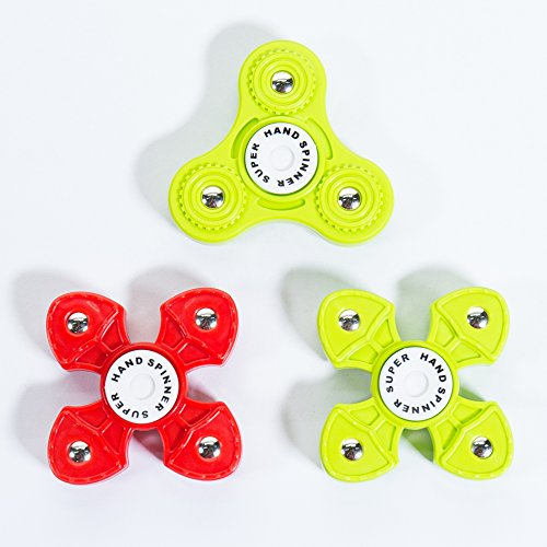 Hand Spinner Fidget New Popular Relieve Stress Plastic finger Spinner for Kids 2017 (3 PCS Green/Red/Green)