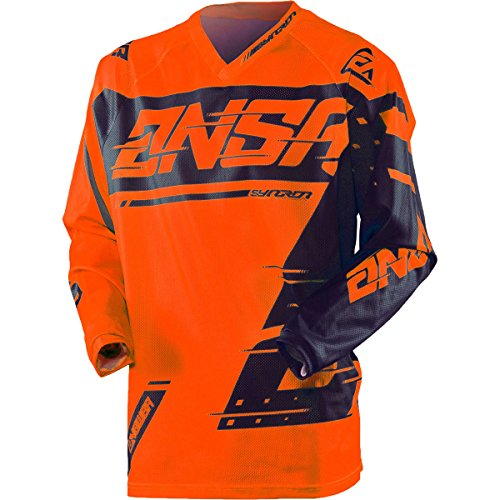 Answer Racing A18.5 Syncron Youth Boys Off-Road Motorcycle Jersey - Fluorescent Orange/Blue / X-Large