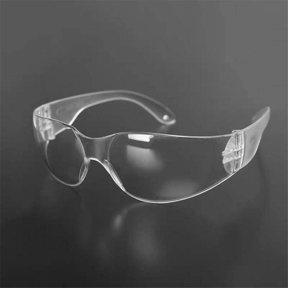 Findema Goggles Closed Protective Glasses Anti-Spitting Anti-Fog Cycling Glasses Safety Eyewear Eyeglasses for Eye Protection with Clear Lenses and Featuring Rubber