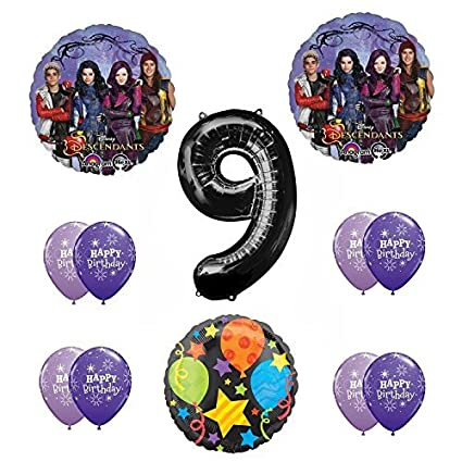 Disney The Descendants 9th Happy Birthday Party supplies Balloon Decoration Kit