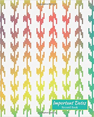 Important Dates Gift And Card Notebook Important Dates Record Book