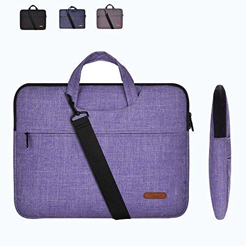 15Inch Notebook Laptop Handbag Canvas Business Shoulder Bag (Pink) - 2