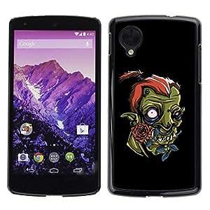 LASTONE PHONE CASE / Diseño de Delgado Duro PC / Aluminio Caso Carcasa Funda para LG Google Nexus 5 D820 D821 / Cute Funny Orc