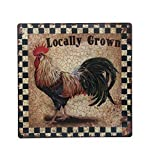 Home Collections Chicken Rooster Sign | Gifts for Window, Office, Bedroom Decor, lockers, etc. | Corrugated Metal | Indoor/Outdoor | Chicken Sign (Locally Grown)
