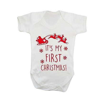 Zantec neoglory Vestido Papá Noel, Traje de bebé para niños en Pelele con impresión de